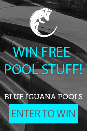 pool service ad. BLUE IGUANA POOLS Win Free Pool Service For A Year Banner Ad Pool